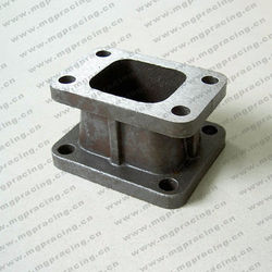 Iron casting exhaust adaptor for T3 to T4 flange