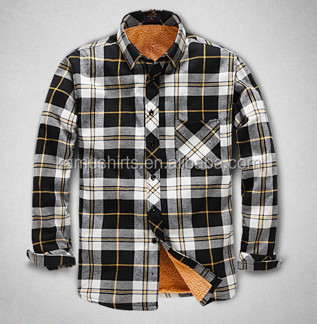 wholesale flannel shirt thermal shirt plaid shirt