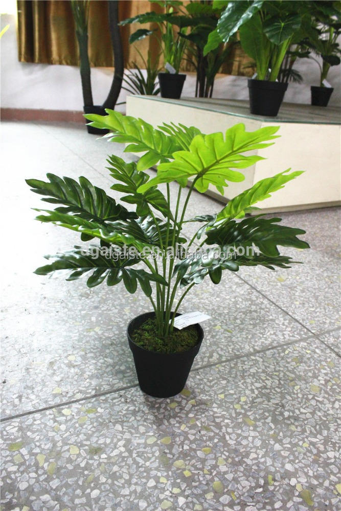 artificial rubber leaf small green bonsai display ornament plastic plant