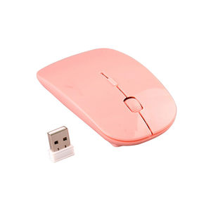 Magro Estilo Popular 4D Adaptador USB 2.4 gHZ Wireless Optical Mouse Personalizado Feito