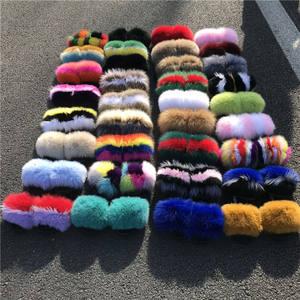 luxury style women fur flat slides fox fur slipper