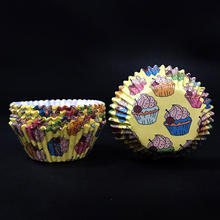 OEM Custom Mini Disposable Multicolor Cute Baking Muffin Cake Liners Cupcake Paper Cups