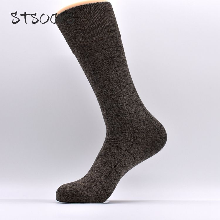 OEM Service Custom Pattern Breathable Elastic Fashion Business Cotton Tube Men Socks