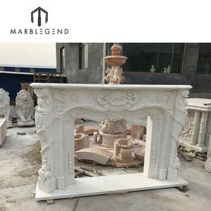 villa interior decor hand carved indoor white marble stone fireplaces