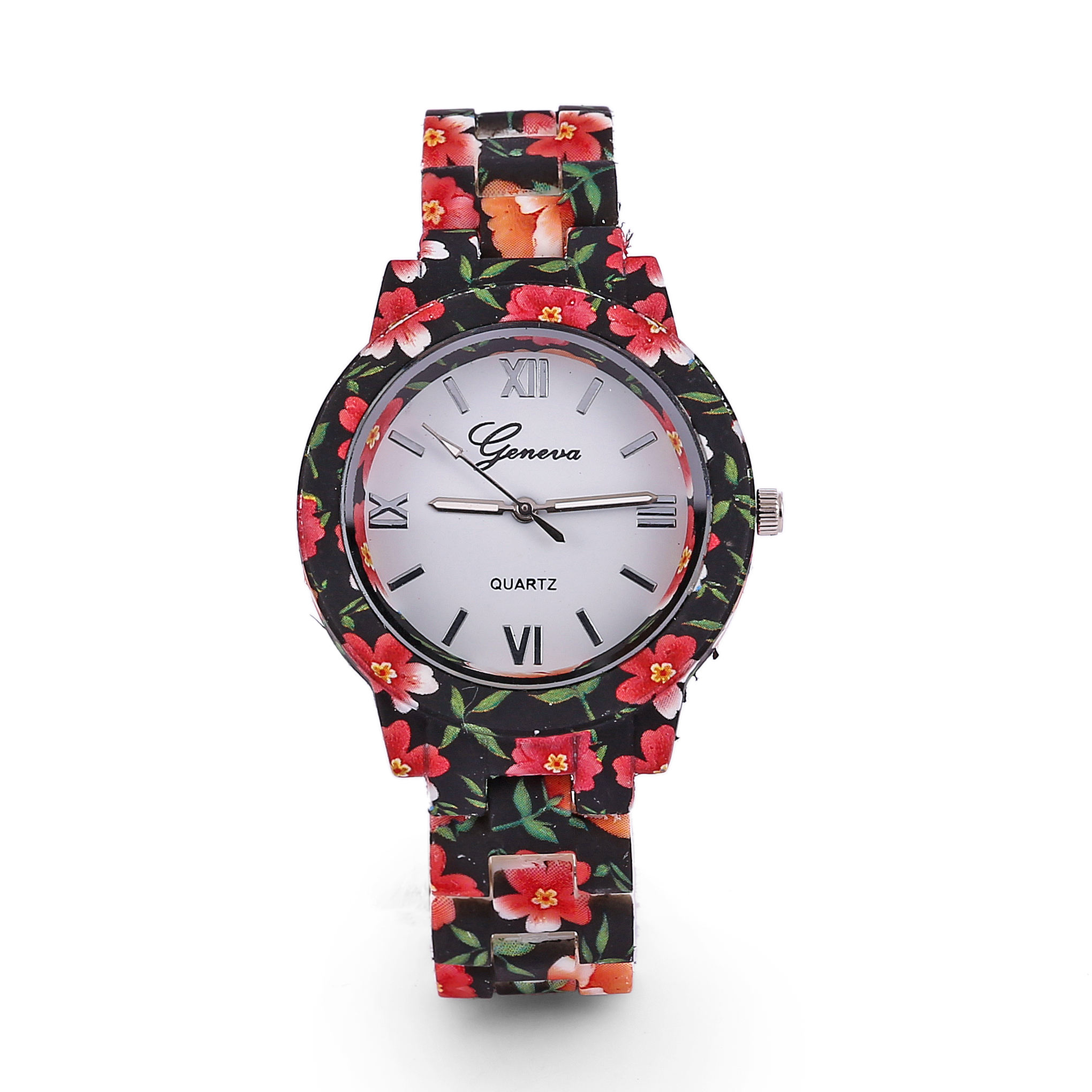 Simple Printed broken flowers Wristwatches Rose Pastoral Style For Girl Student Ladies Quartz Women Watches