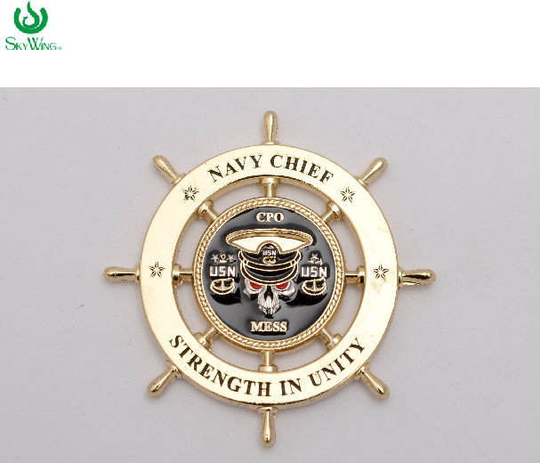 Military Navy cheif coin