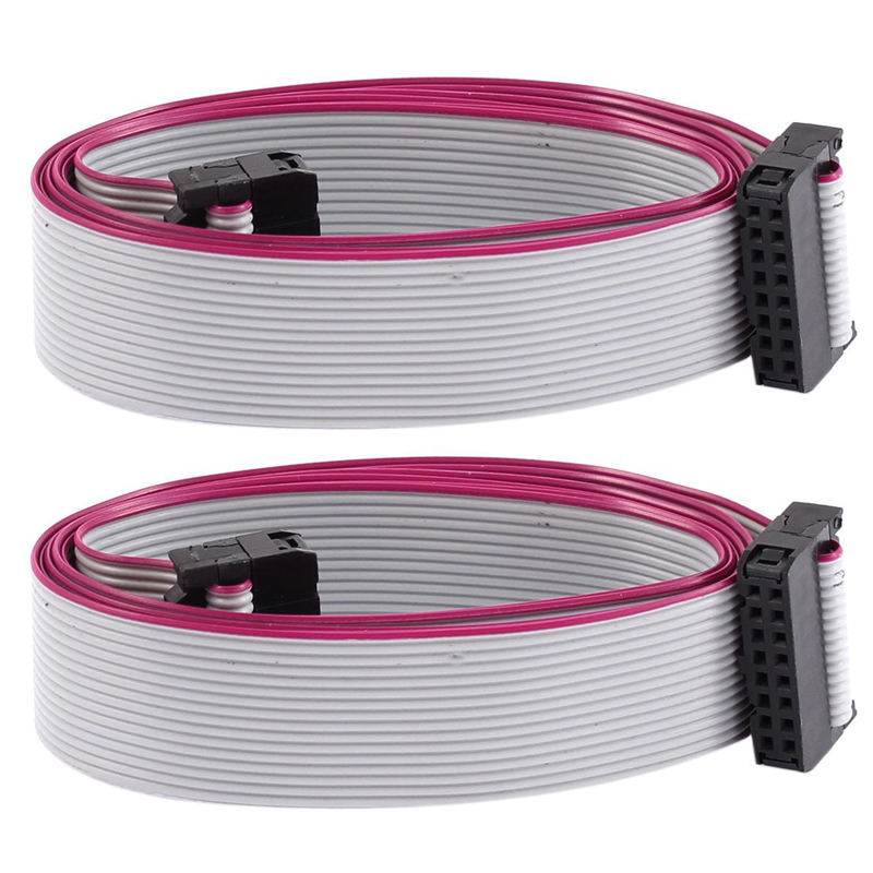 electrical 16 pin IDC connector flat ribbon IDC cable pitch idc flat cable