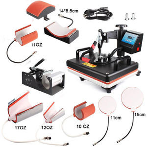 combo Heat Press Machine 8 1 for T shirt Mug Cap Hat Plate Case Puzzle Bag Sublimation heat press machine sublimation printer