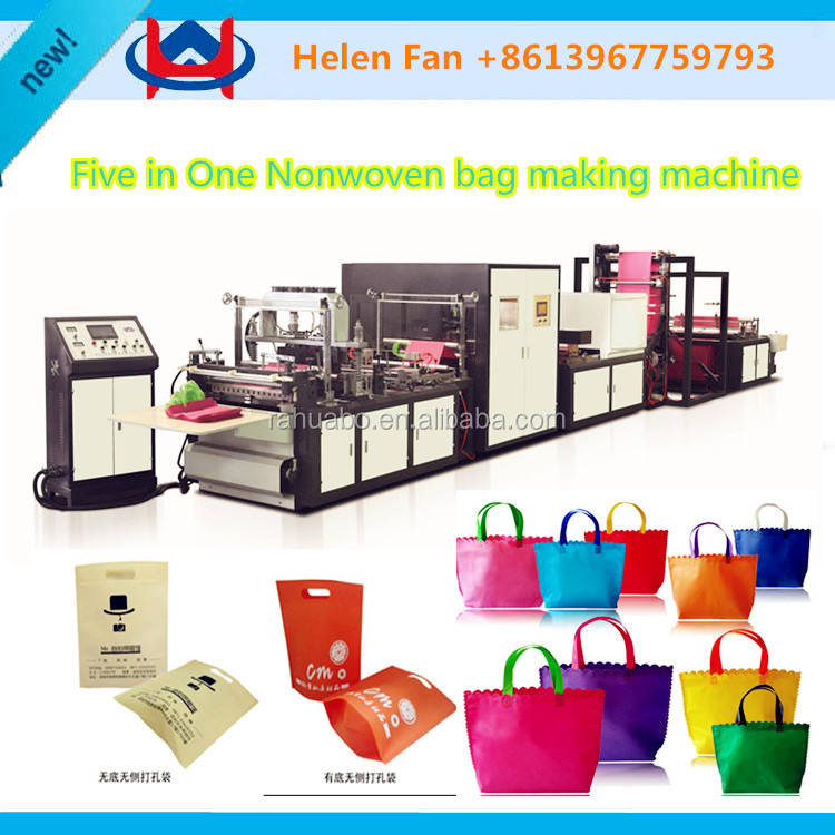 Automatic PP Non woven Fabric Flat Bottom Sealing Bag Making Machine