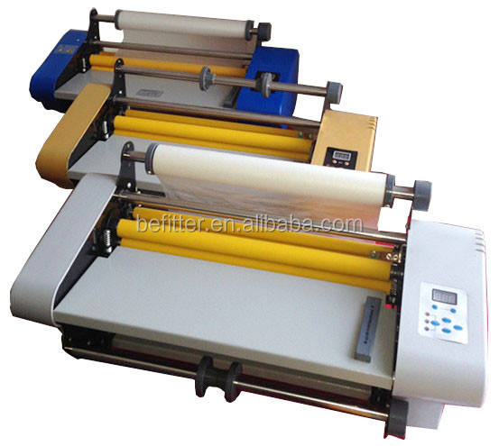 FM-358 350mm hot roll laminator on the desktop