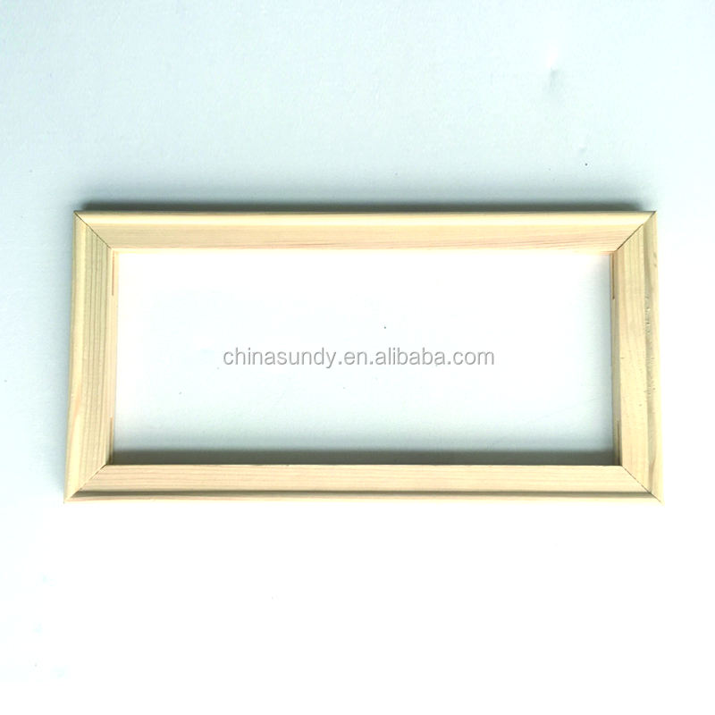 1.7*3.0cm of 20'' Wholesale low price pine wood inner frame stretcher bar for stretched canvas