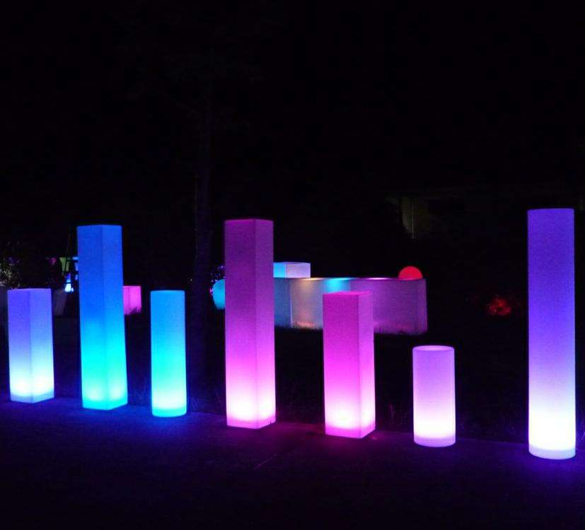wedding columns used wedding decorations/led bar pillars/acrylic wedding columns