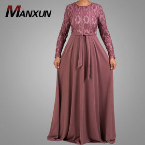 New Model Abaya In Dubai Arabia Turkish Abaya Elegant Lace Design Fashion Muslim Dress Ladies Modern Islamic Clothing