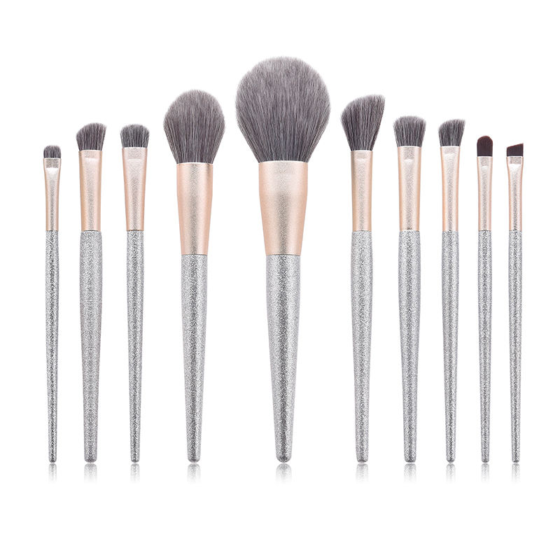 Low MOQ Cosmetic Brushes Tools Kit Custom Logo 10 pcs Make Up Brush Unique Private Label Makeup Brush Set