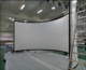 180 degree curved projection screen cinema big screen