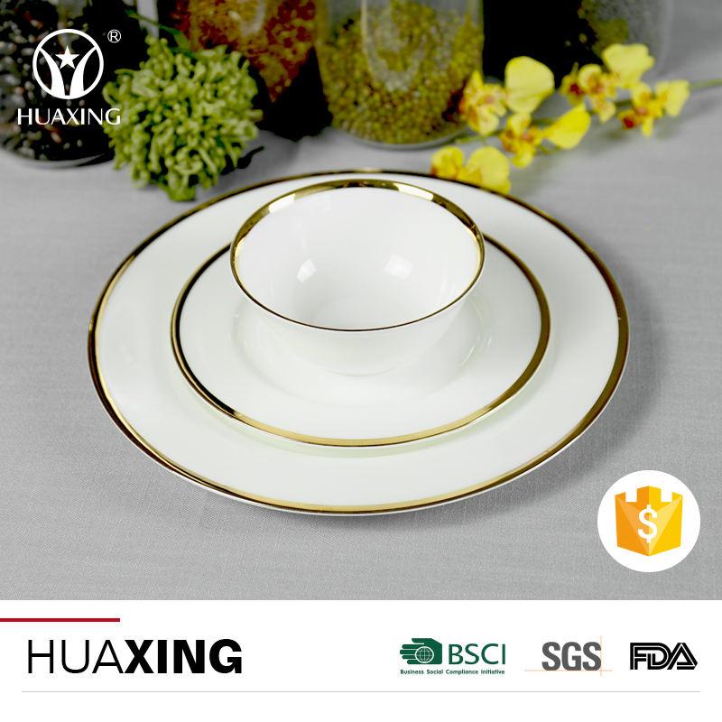 Regalo de navidad 2017 de china de hueso de porcelana <span class=keywords><strong>hacer</strong></span> su propia <span class=keywords><strong>vajilla</strong></span> con borde de oro