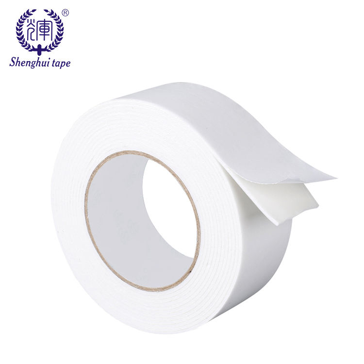 Acrylic glue strong sticky white double sided adhesive tape