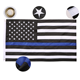 China factory custom Polyester embroidery Thin Blue Line USA Flag national flags