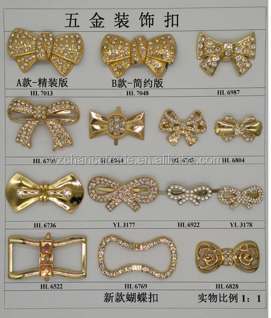 Never Out Of Date Gold Plated Ornaments Metal Male Female Shoe Clips