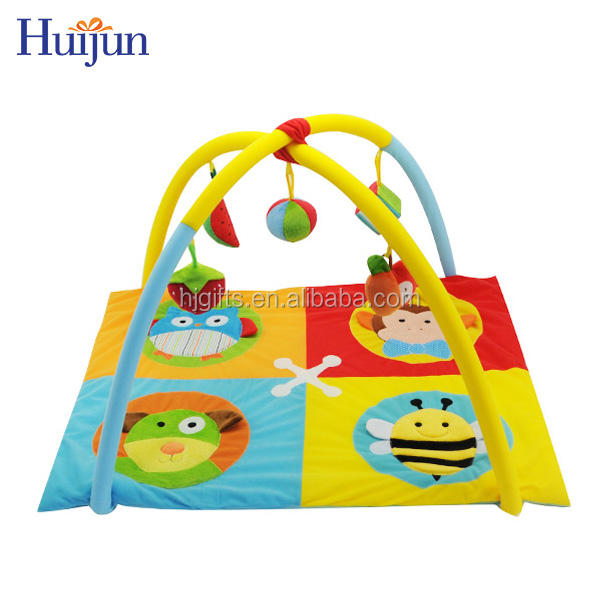 High quality lovely Plush soft children play mat toys funny indoor animals baby play mat gym