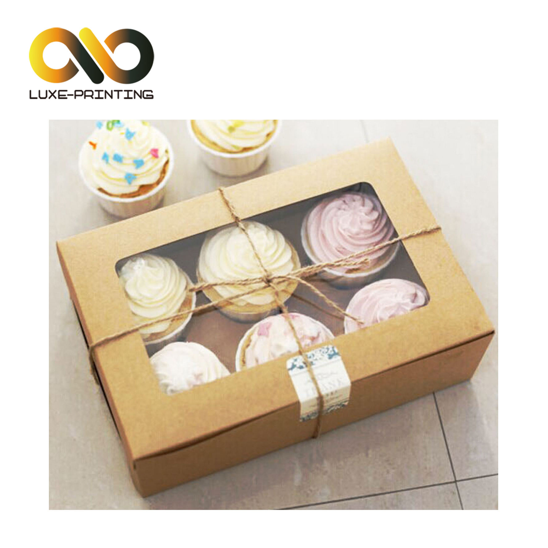 Cute Clear blister disposable plastic small cream cake container/cheese packing box/pastry packaging