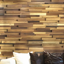 Morden style Luxury 3D effect solid wood wall panel , high quality with factory price