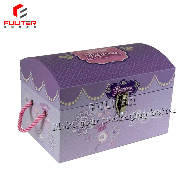 Custom treasure chest trunk cardboard toys storage boxes