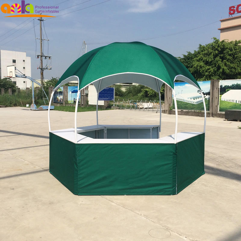 Outdoor advertising and trade show tent PVC material kiosk booth folding tent for promotional sale