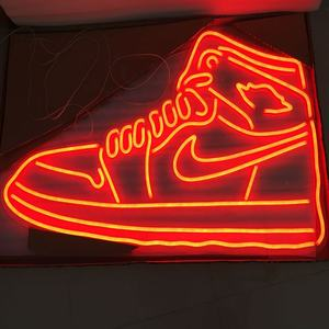 Red sneaker Nike logo flex led neon light sign led nike light neon led strip for decoration L