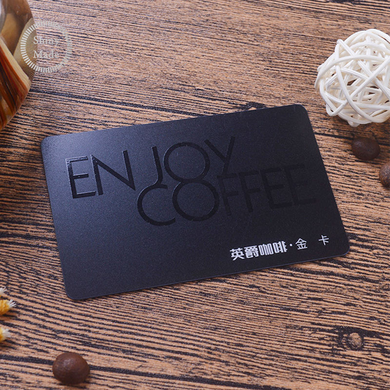 Luxury embossed hot foil plastic PVC stamped business cards