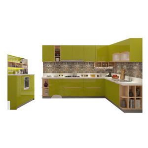 European standard easy fitted simple design lacquer kitchen cabinets,complete kitchen