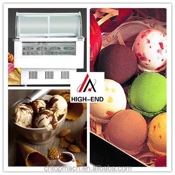 8 pans Temperature setting ZSG-A38 ice cream display freezers price/ice cream cake display freezer