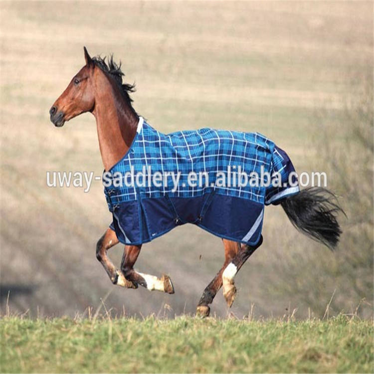 Plaid equestrian rug/horse riding rug and blanket with tail cover