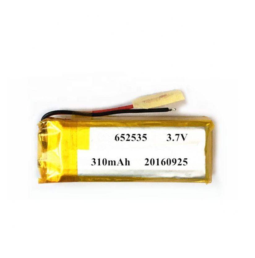 Taidacent Long Life Small 652535 Polymer Lithium Electric Toy High Rate 15C Discharge Lipo Battery 280mah 3.7v