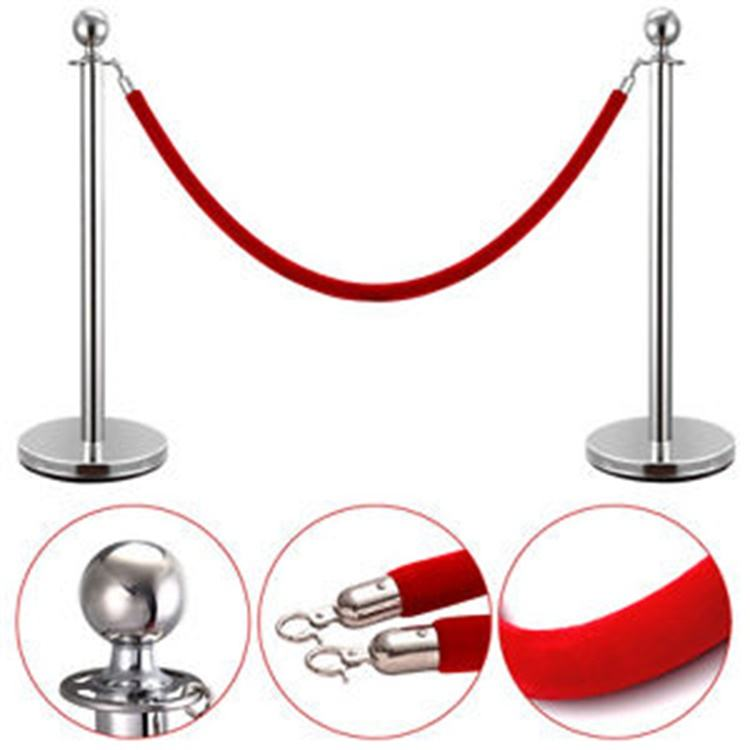 Event Seil Barriere Ball Top Crowd Control Post Versenkbare Samt Seil Pole Stanchion