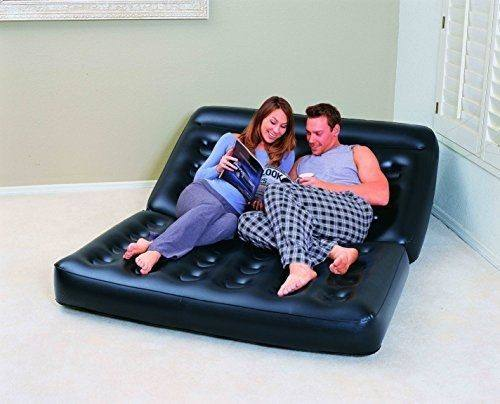 Super Comfortable [ Sofa ] Bestway 75054 Inflatable Double Multifunctional Sofa Chair Indoor For Relaxing Lounger Air Sofa