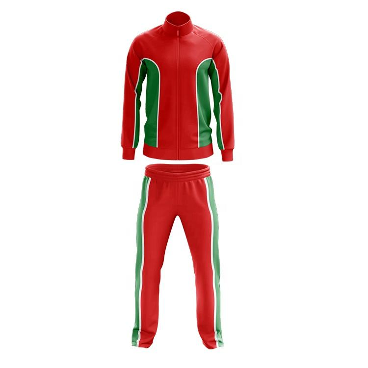 China factory OEM side striped polyester tracksuit custom logo mens tracksuit
