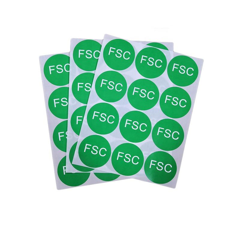 Factory Eco-friendly Sign Label Green Round Sticker For Packing