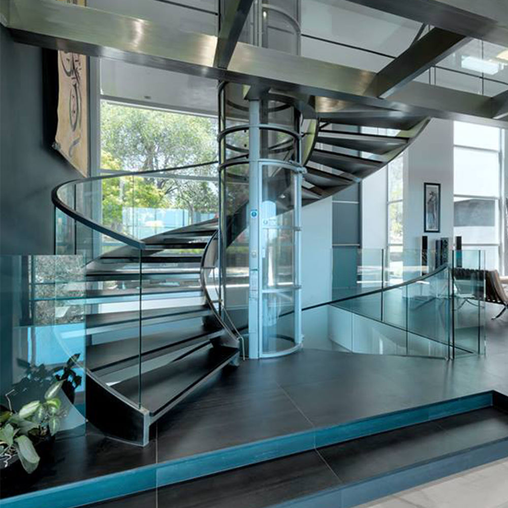 Residential Lobby Spiral Staircase/ Curved Stairs Design