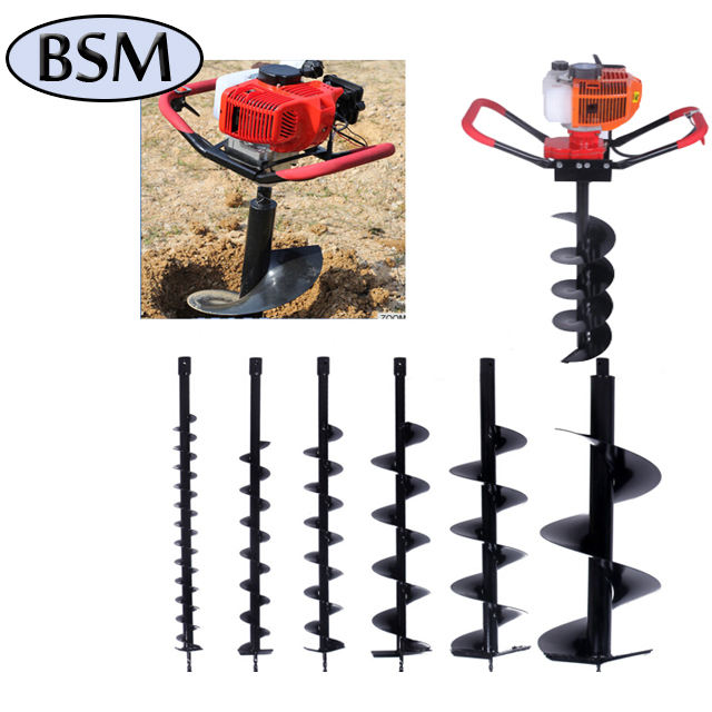 52cc Gasoline Earth Auger Hole Digger Ground Drill