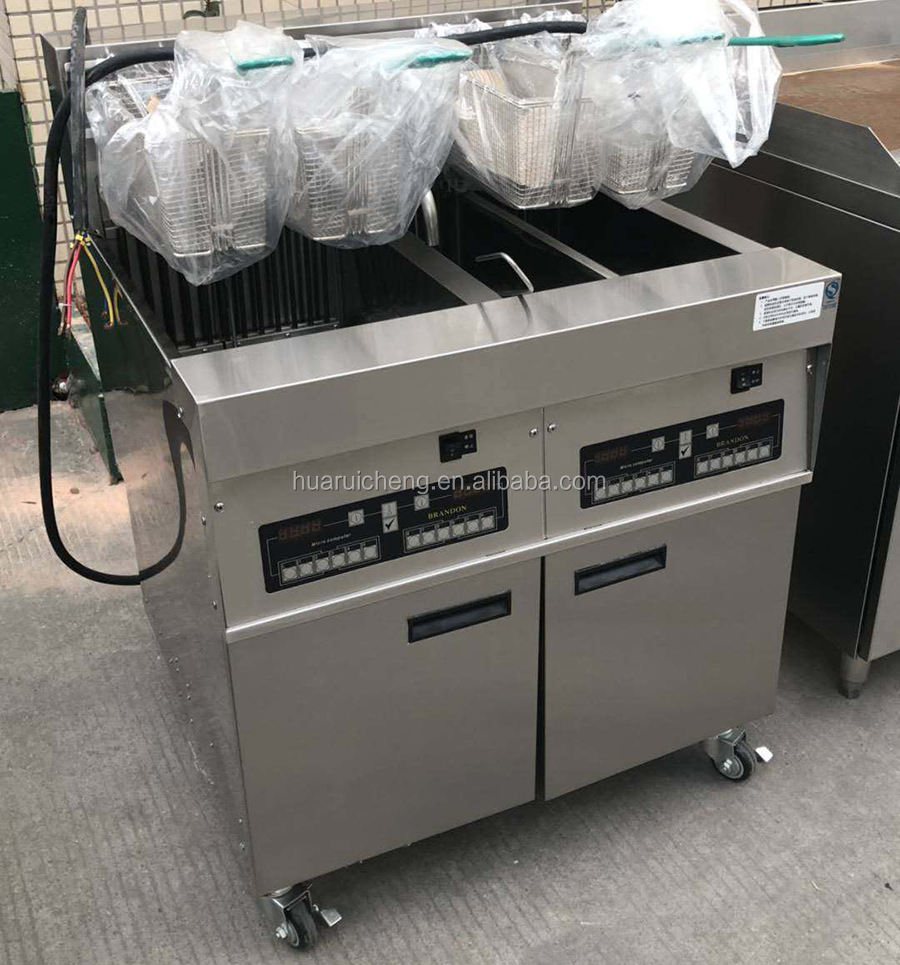 Mcdonalds fast food restaurant 3 tank with 4 baskets automatic fryer machine