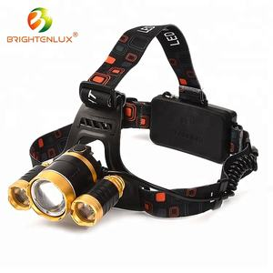 10 W 8000 Lumen CREE headlamp rentang panjang 3 Led Headlamp USB Pengisian Rechargeable led Headlamp Zoomable Tahan Air Super Terang