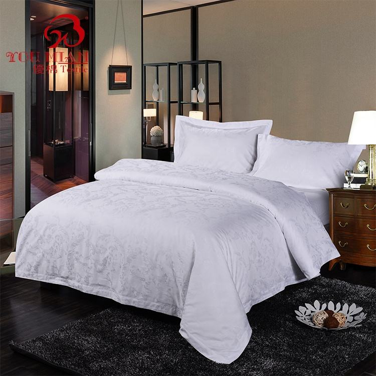 High Density 100% Cotton Hotel Bed Linen 300TC Luxury Bed Sheet
