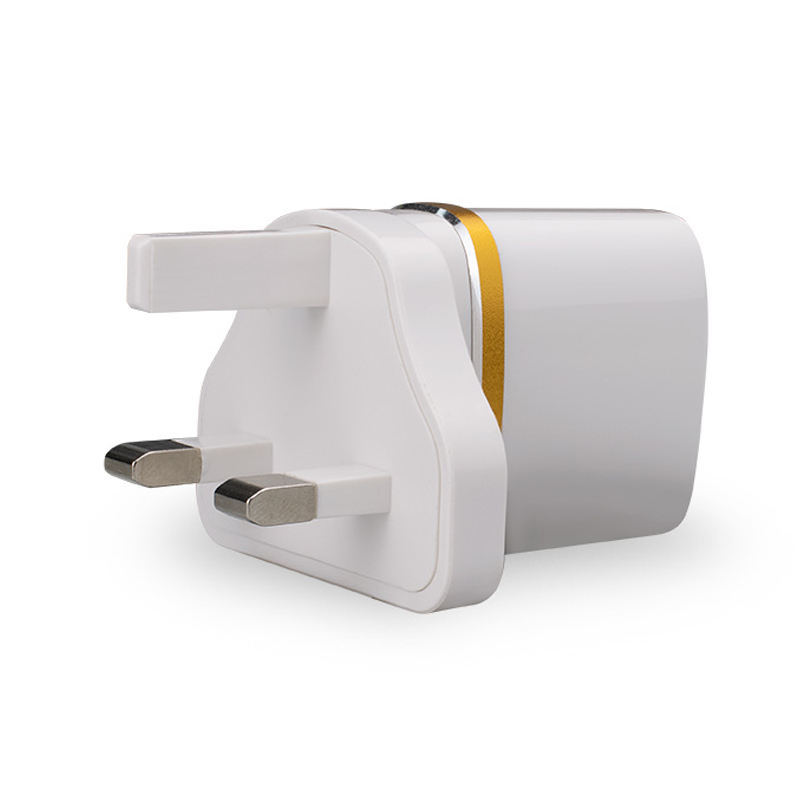 Cell Phone Chargers Parts US EU UK Socket Fast Charging Mobile Adapter 5V 2.1A Dual Usb Wall Charger
