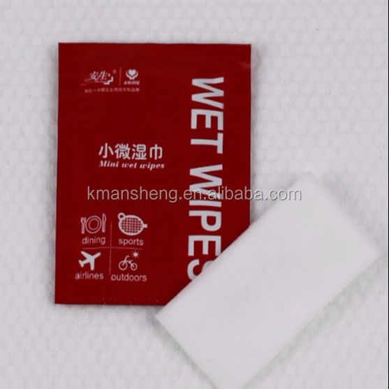 Individual Restaurant hand wipes with customized logo