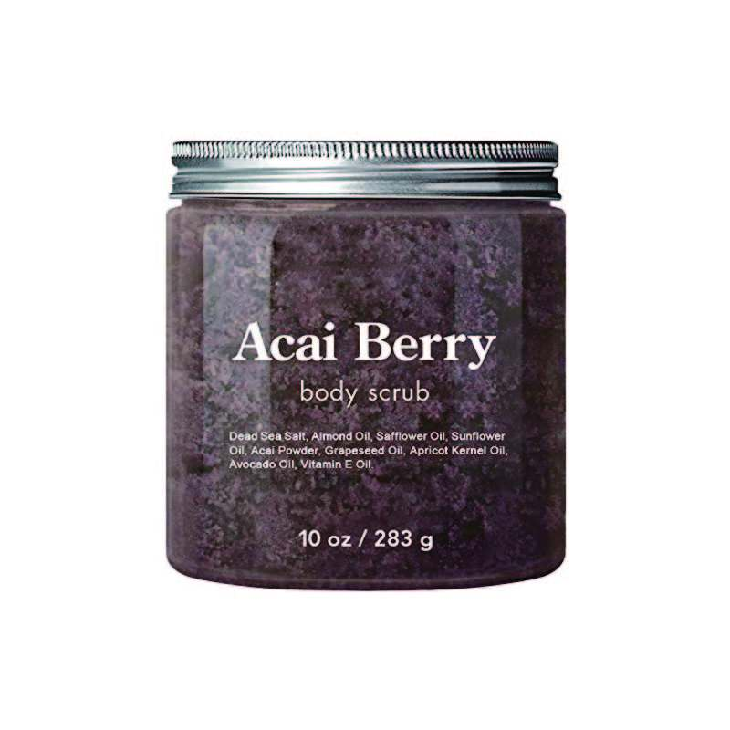 Newest Natural Acai Berry Body Scrub For Reducing The Appearance Of Cellulite
