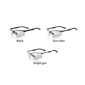 Custom Anti Glare Uv400 Changing Color Sun Glasses Mens Cool Day And Night Polarized Photochromic Sunglasses
