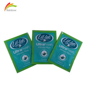Single scented intimate feminine antibacterial hygiene wet wipes