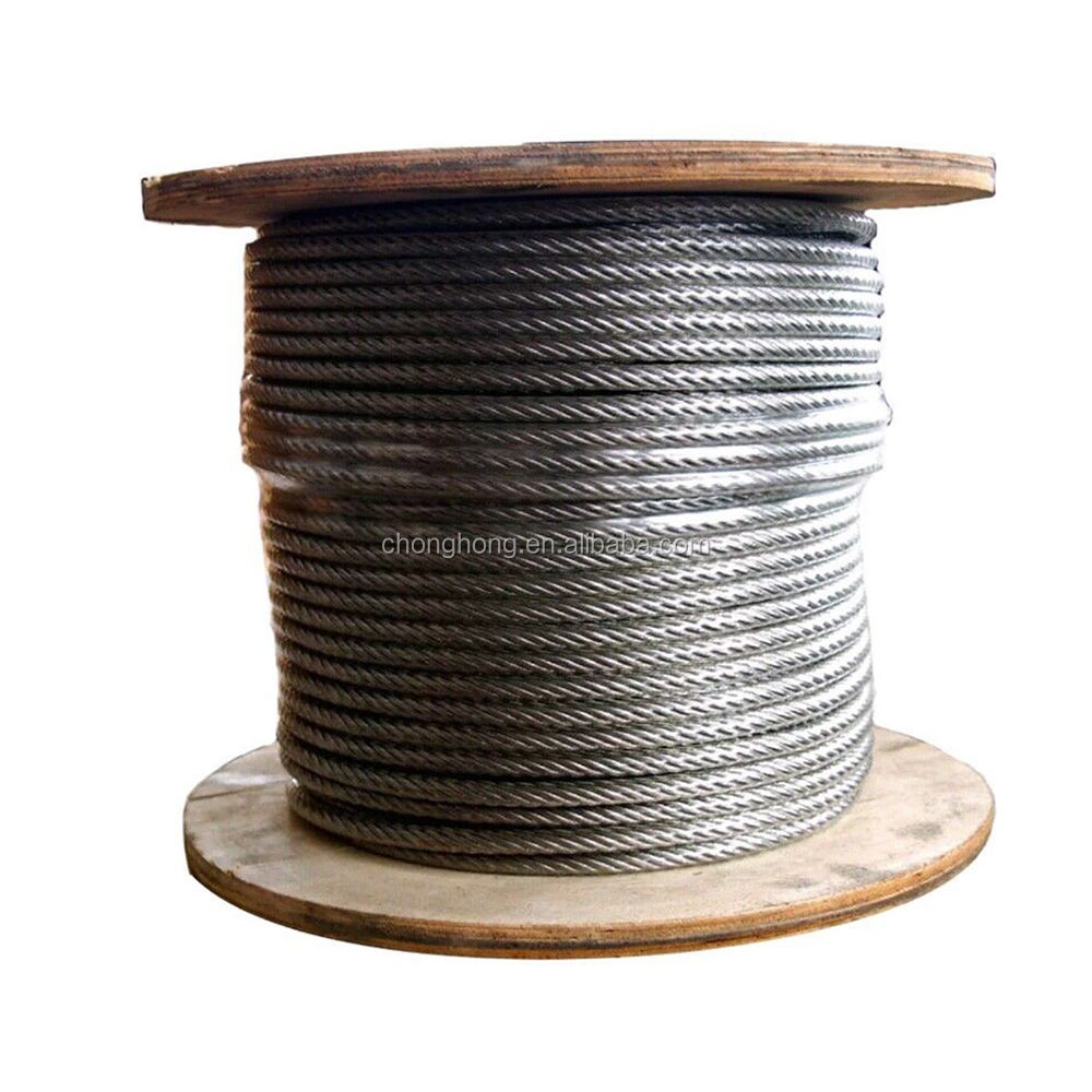 7 x 7/ 6 x 7+FC Stainless Steel Wire Rope Made of AISI304, 304L,316, 316L.Inox Cable