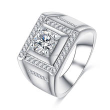 men ring jewelry male cz zirconia ring retail and wholesale